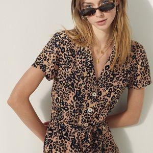 Wilfred leopard maxi dress M